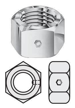 Standard To Metric >> Nylon Pellet Locknut | PEL-LOC Two-Way Lock Nuts